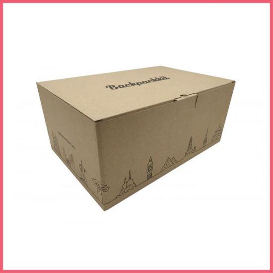 Black Printing Large Recycled Kraft Cardboard Packing Carton Box