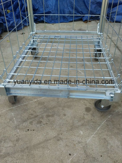 2-Sided Foldable Roll Cotainer Storage Packing Trolley pictures & photos