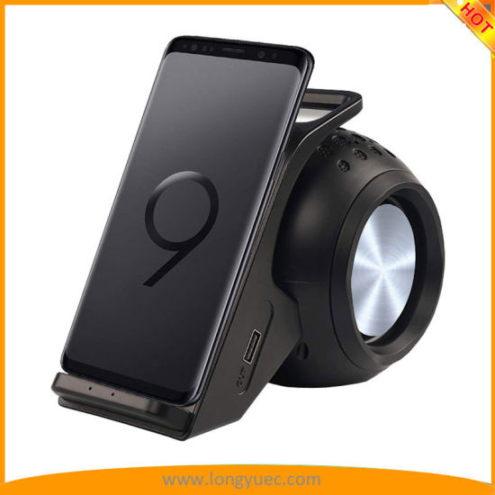 Wireless Charger Bluetooth Speaker Charging Stand Hands-Free Calling Samsung