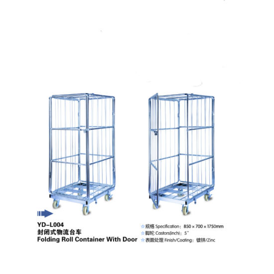 Four Wheels Folding Metal Steel Storage Cages pictures & photos