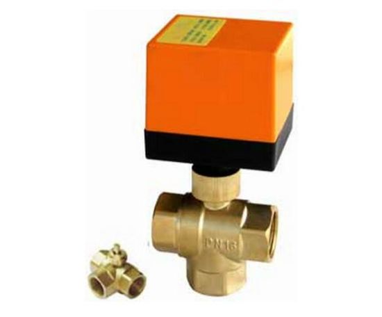 2/3 Way High Temperature Electric Actuated Bronze Brass Water Ball Valve (HTW-EG) pictures & photos