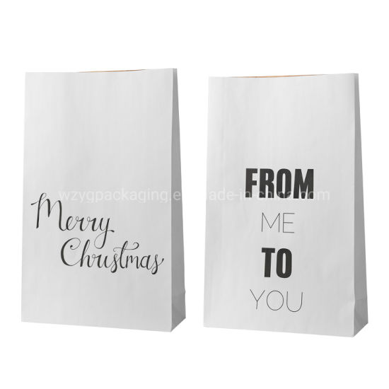 Wholesale Biodegradable Christmas Gift Goodies Packaging Customized Kraft Paper Bags for Kids