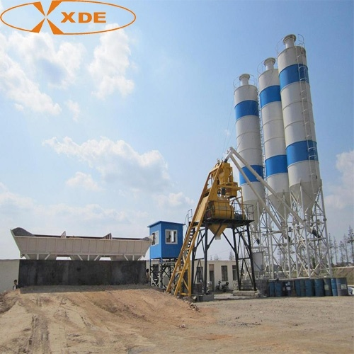 Mixing Machine 75 Cubic Meter Per Hour Cement Mixer Fixed Concrete Batching Plant for Road Construction