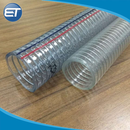 Non Toxic Reinforced Clear Transparent Braided PVC Hose Pipe