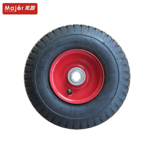 10X3.00-4 Pneumatic Rubber Wheel for Wheelbarrow or Hand Truck pictures & photos