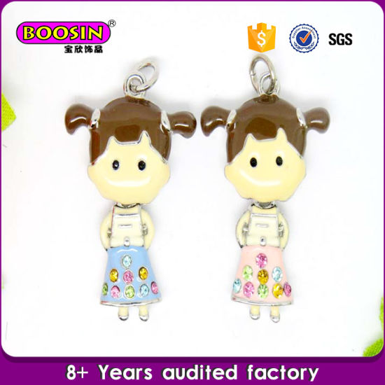 Wholesale Fashion Factory Imitation Jewelry Enamel Girl Pendant pictures & photos