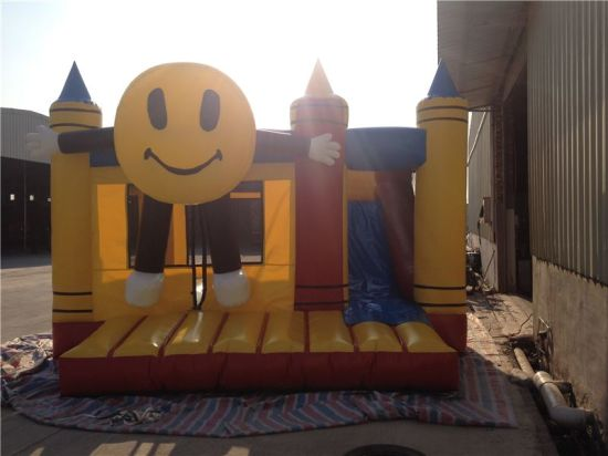 Crazy New Inflatable Pencial Bouncy Castle with Slide for Sale pictures & photos
