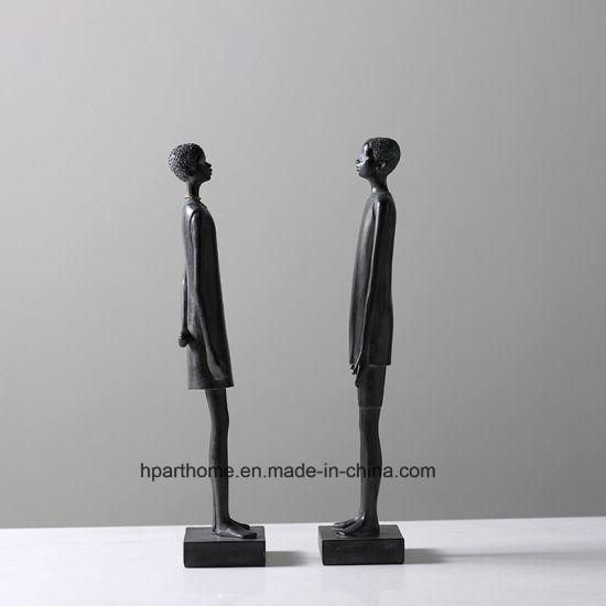Resin Souvenir Craft Artificial Africa Women Resin Statue, Polyresin Decoration
