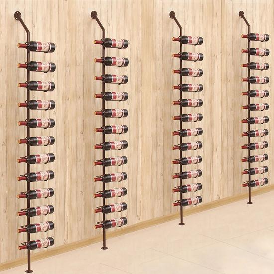 China European Wrought Iron Wall Wine Rack Wine Bottle Racks China