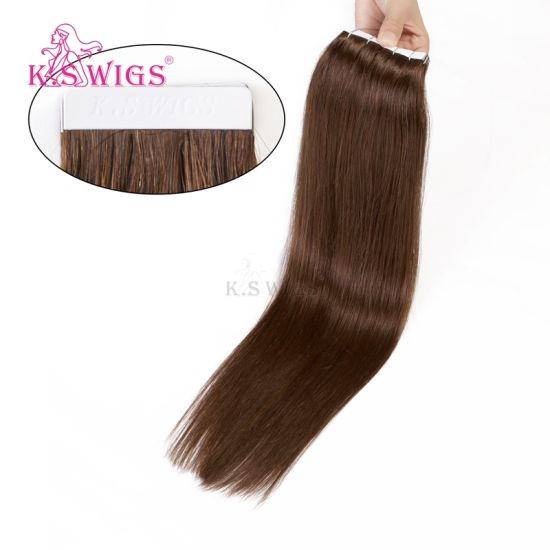 Human Hair Extension Tape on Hair pictures & photos