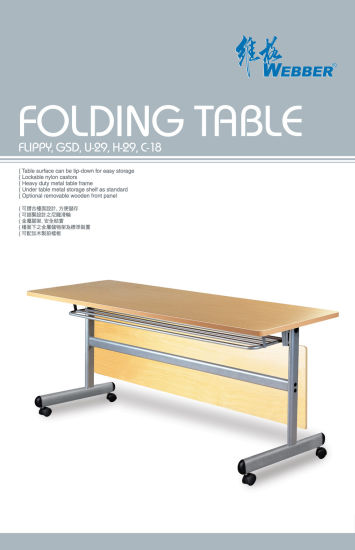 Professional Design Office Wooden Folding Tables