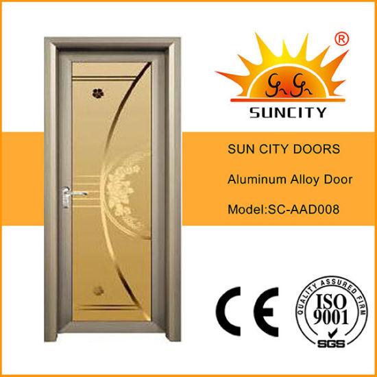 China Hot Sale Bedroom Doors Design Aluminium Frosted Glass Door