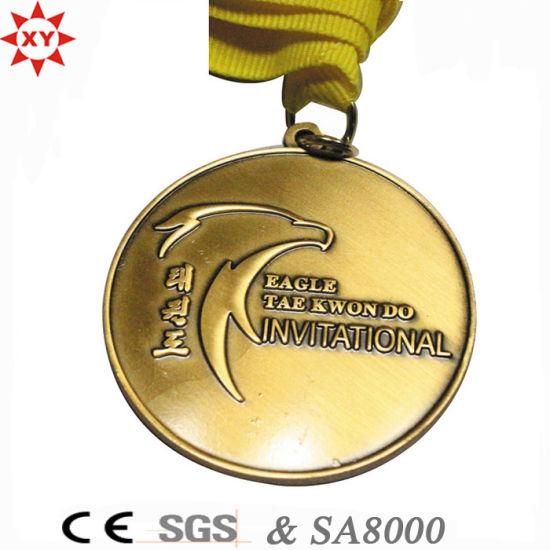 China Custom Enamel Copper Souvenir Medals - China Medal