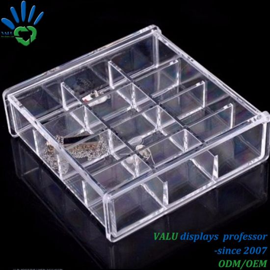 Luxury Acrylic Makeup Box Custom Clear acrylic Jewelry Storage Box with Lid : jewelry storage box  - Aquiesqueretaro.Com
