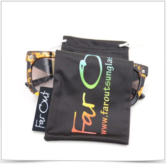 Ultra Fiber Both Side Pull Sunglasses Bag