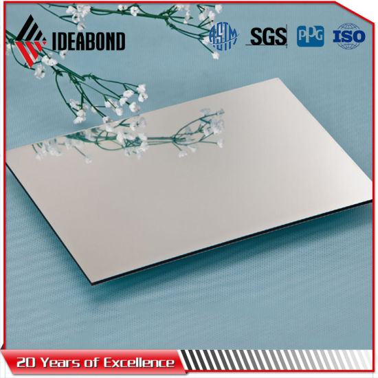 4ft*8ft Siver Mirror Wall Cladding Aluminum Composite Panel (AE-201) pictures & photos