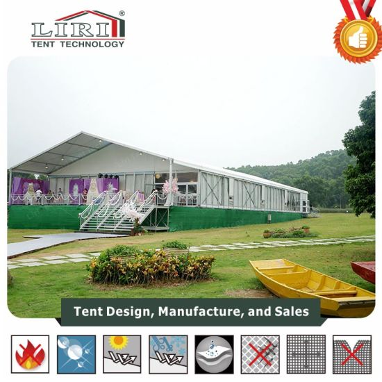 20m Width Luxury Big Tent with Temper Glass Walls Marquee