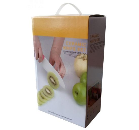Gift Souvenir for Ceramic Fruit +Slicing Knife+ Peeler Set pictures & photos