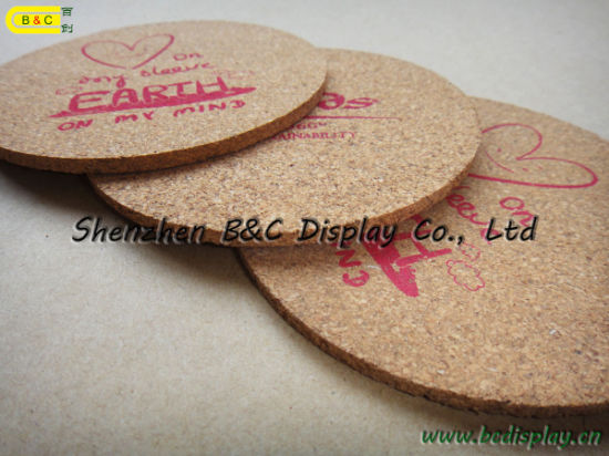 Waterproof Heat-Resistant Cork-Backed Coasters (B&C-G071) pictures & photos