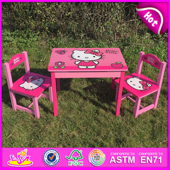 2017 Wooden Writing Table And Chair Sets Children Kids For Studying W08g161