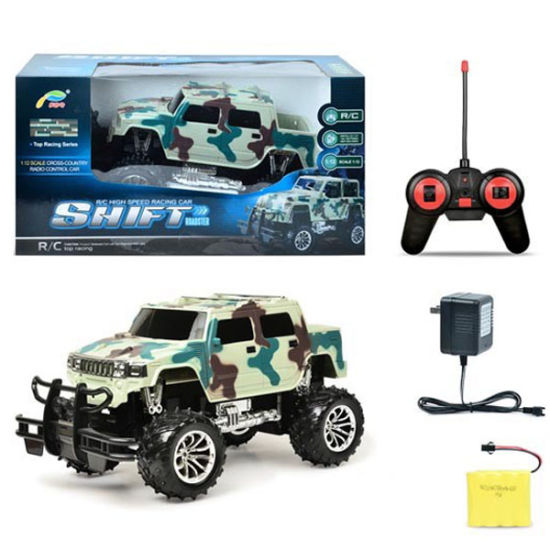 4 Channel 1: 12 Plastic Model Remote Control Toy Car with Light and Charger (10227906)