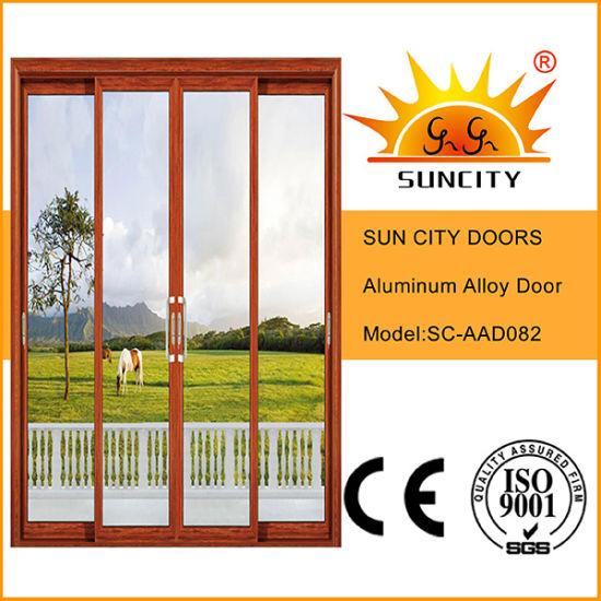 Hot Sale Cheapest Glass Aluminum Doors (SC-AAD082)