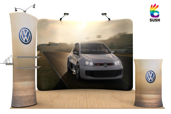 Tension Fabric Portable Exhibition Stand, Display Stand, Banner Stand (KM-BSH) pictures & photos