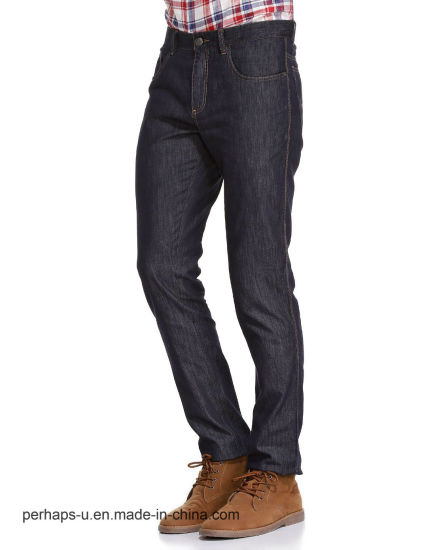 High Quality Men′s Clothes Casual Dark Blue Denim Jeans pictures & photos