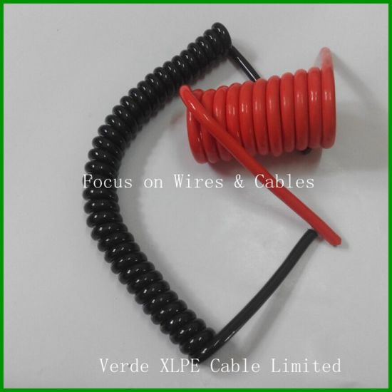 China Spring Coiled Wire Electronic Spiral Cable for Auto Sensor and ...