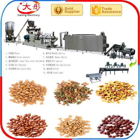 Wet Double Screw Puff Corn Snack Animal Pet Food Making Production Line Dog  Cat Food Machine Floating Fish Feed Plant Artificial Rice Baby Food Lab