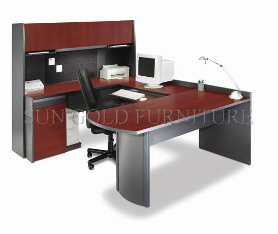 Popular Credenza Shell Office Table Design Photo With U Shape (SZ OD380)