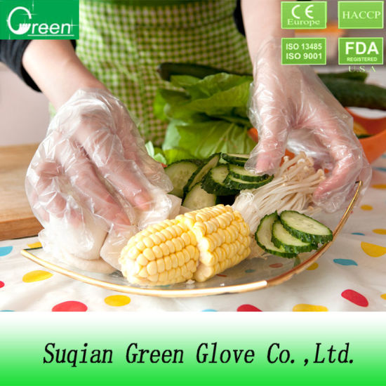Selling Products PE/TPE/CPE Food Plastic Gloves