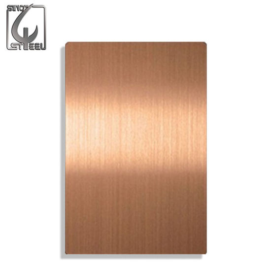 304 Rose Red Surface PVD Coating PVC Film Stainless Steel Sheet pictures & photos