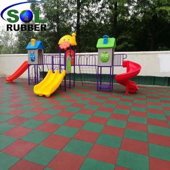China Recycled Outdoor Safety Playground Rubber Flooring Tile