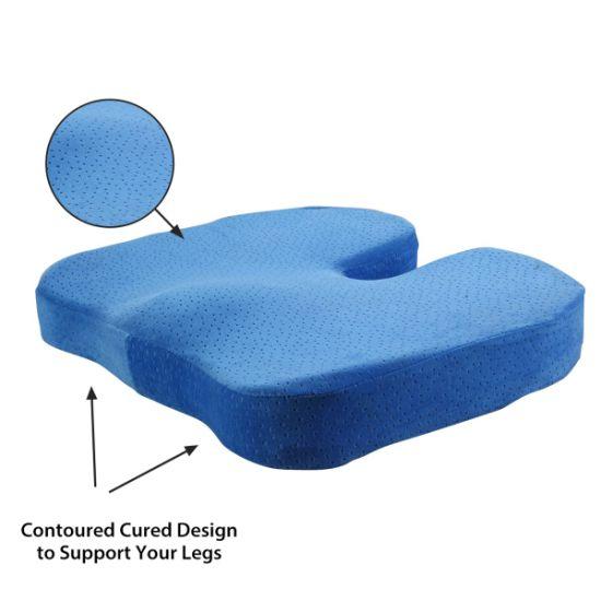 China Memory Foam Velour Cushion Coccyx