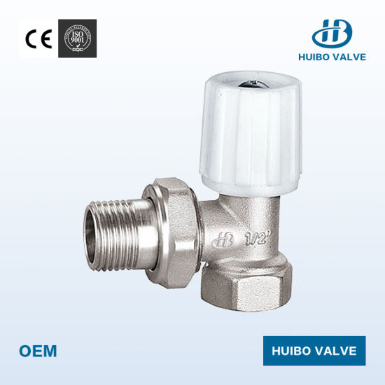 Angle Type Brass Manual Operation Radiator Valve Wholesales pictures & photos