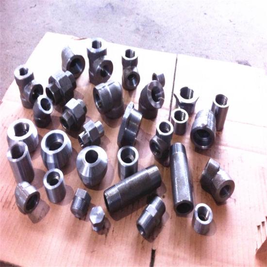 Sw NPT/Bsp Male/Female 2000/3000/6000/9000 Socket Weld Threaded Thread Plug/Union/Coupling/Bushing/Nipple/Tee/Elbow Pipe Forged Fitting