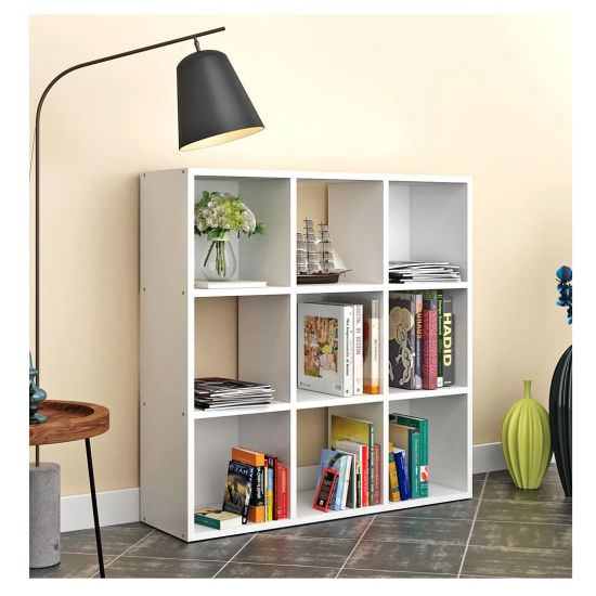 wooden bookcase furniture storage shelves shelving unit. 3 Tier Wooden 9 Cube Storage White Display Shelf Unit Bookcase Furniture Shelves Shelving
