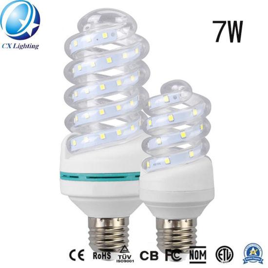 E27 5W Spiral Glass LED Energy Saving Lamp
