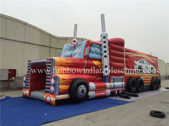 Mulitplay Inflatable Lorry Tractor Car Obstacle Course Toy pictures & photos