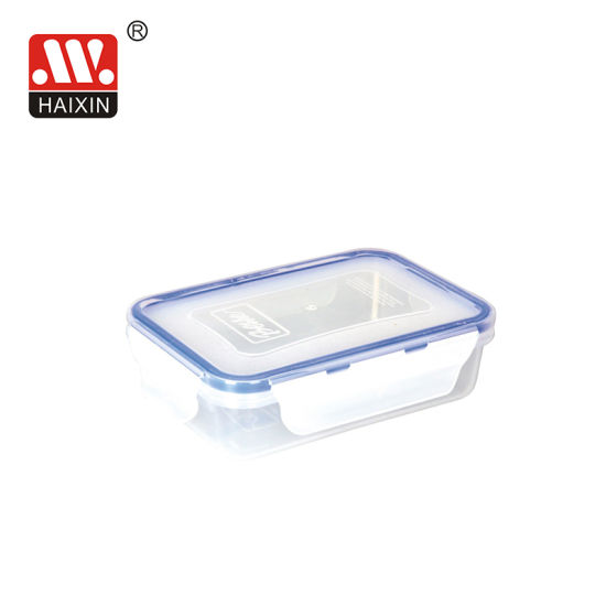 Microwave Safe Clear/Rectangular Plastic Food Container with Lock Lid