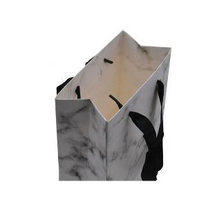 Cheap Small White Marble Color Paper Gift Bag with Handle