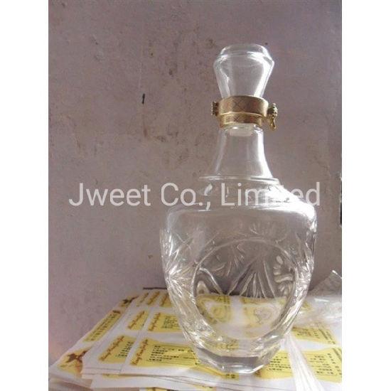 Round Clear Glass Sand Blast 700ml Sake Wine Glass Bottle