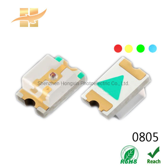 Reliable Quality Red Yellow Green Ice Blue 0805 Top View SMD LED Chip