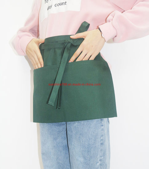 High Quality Polyester Cotton Restaurant Coffee Makeup Short Waist Apron