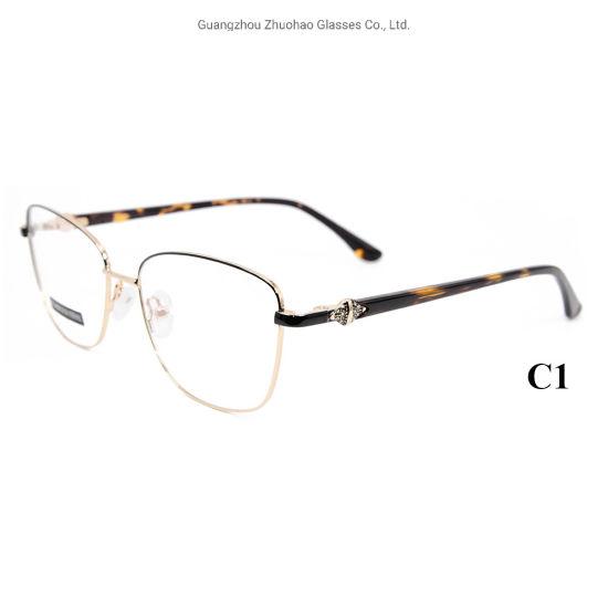Wholesale Factory Custom Eye Glasses Best Quality Fashion Design Women Metal Optical Glasses Frame