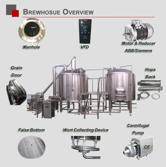 1500L Brewery Micro Beer Brewing Craft Beer Equipment Beer Machinery