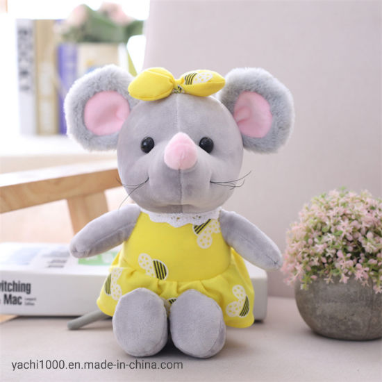 Wholesale Custom Plush Stuffed Soft Mouse Toy with Dress pictures & photos