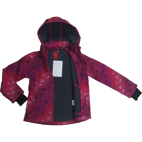 Softshell Jacket for Kids, with Windproof, Waterproof and Breathable