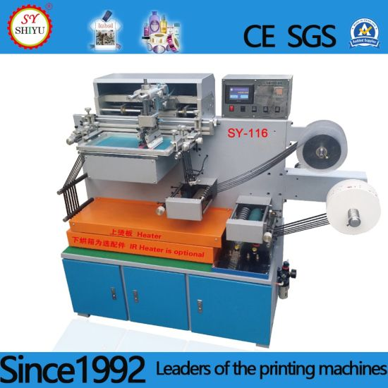 Automatic Vertical Fabric Cloth Label Screen Printing Machine
